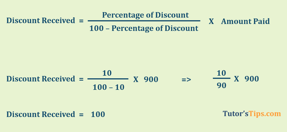 Discount Received calculation  - Journal Entry for Discount Received - with Examples | Journal