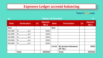 Expenses Ledger account balancing Feature Image 360x203 - Financial Accounting Tutorial