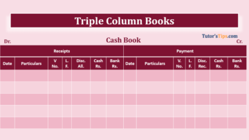 Triple column Cash book with bank and discount column 360x203 - Financial Accounting Tutorial