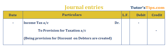 Provision in Accounting Journal Entry for provision for taxation - The provision in accounting: Types and Treatment