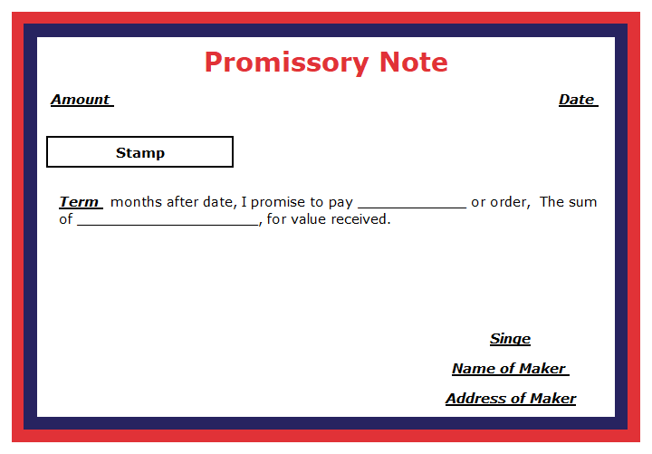 Promissory Note Format  - Promissory Note: Meaning and Explanation