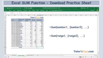 Excel SUM Formula Feature Image 360x203 - Microsoft Excel Formulas - Explained with Examples