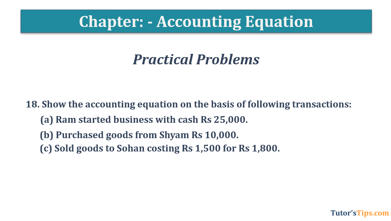 Question No.18 - Chapter No.5- T.S. Grewal +1 Book 2019