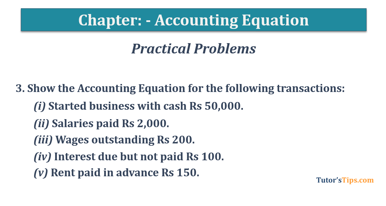Question No.3 - Chapter No.5- T.S. Grewal +1 Book 2019