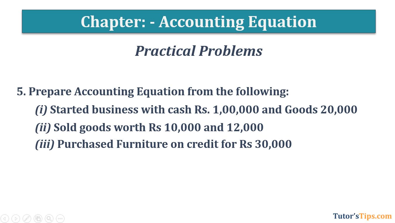 Question No.5 Chapter No.5 T.S. Grewal 1 Book 2019 - Accounting Equation - T.S. Grewal 11 Class - Book Solution