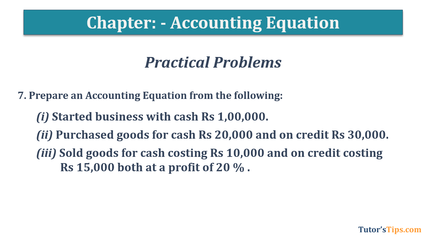 Question No.7 - Chapter No.5- T.S. Grewal +1 Book 2019