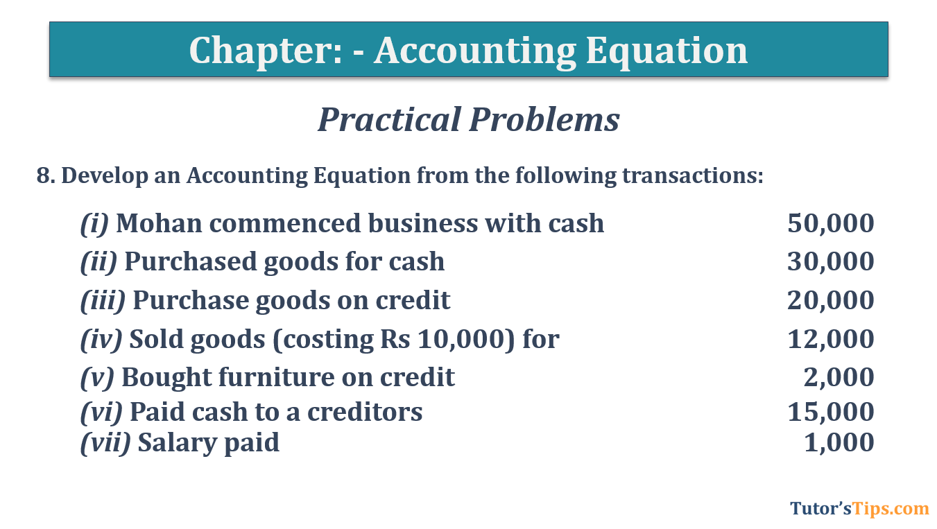Question No.8 Chapter No.5 T.S. Grewal 1 Book 2019 - Accounting Equation - T.S. Grewal 11 Class - Book Solution