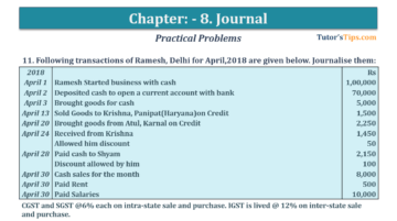 Question No. 11 Chapter No.8 T.S. Grewal 1 Book 2019 360x201 - Chapter No. 8 - Journal - T.S. Grewal 11 Class - Book Solution