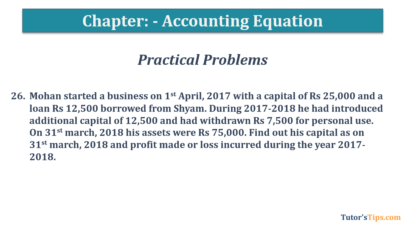 Question No.26 - Chapter No.5- T.S. Grewal +1 Book 2019