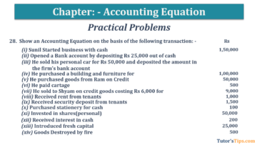 Question No.28 Chapter No.5 T.S. Grewal 1 Book 2019 360x203 - Accounting Equation - T.S. Grewal 11 Class - Book Solution