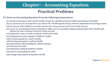 Question No.29 Chapter No.5 T.S. Grewal 1 Book 2019 360x202 - Accounting Equation - T.S. Grewal 11 Class - Book Solution