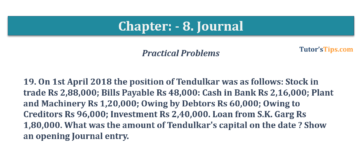 Question No. 19 Chapter No.8 T.S. Grewal 1 Book 2019 360x160 - Chapter No. 8 - Journal - T.S. Grewal 11 Class - Book Solution
