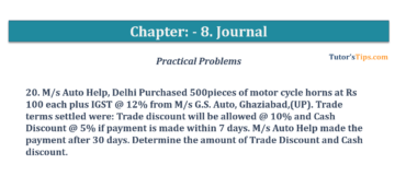 Question No. 20 Chapter No.8 T.S. Grewal 1 Book 2019 360x161 - Chapter No. 8 - Journal - T.S. Grewal 11 Class - Book Solution
