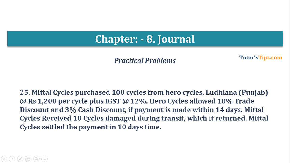Question No. 25 - Chapter No.8 - T.S. Grewal +1 Book 2019