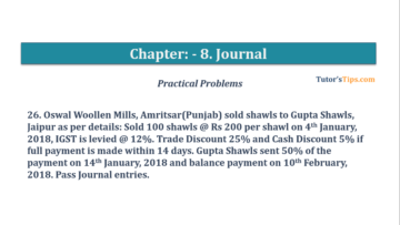 Question No. 26 Chapter No.8 T.S. Grewal 1 Book 2019 360x203 - Chapter No. 8 - Journal - T.S. Grewal 11 Class - Book Solution