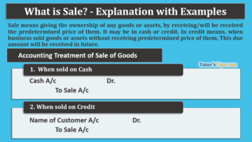 What is sale 1 360x203 - The terminology of Financial Accounting