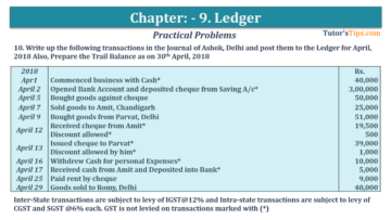Question No. 10 Chapter No.9 T.S. Grewal 1 Book 2019 360x203 - Chapter No. 9 - Ledger - T.S. Grewal 11 Class - Book Solution