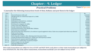 Question No. 3 Chapter No.9 T.S. Grewal 1 Book 2019 360x203 - Chapter No. 9 - Ledger - T.S. Grewal 11 Class - Book Solution