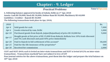 Question No. 6 Chapter No.9 T.S. Grewal 1 Book 2019 360x203 - Chapter No. 9 - Ledger - T.S. Grewal 11 Class - Book Solution