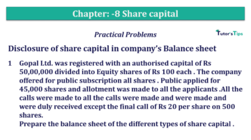 Q 01 CH 8 T.S. Grewal 2 Book 2019 Solution 360x202 - Chapter No. 8 - Company Accounts - Accounting for Share Capital