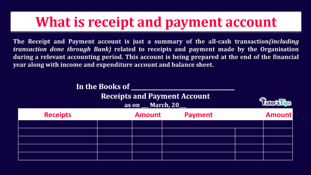 What is Receipt and Payment account - Feature Image-min