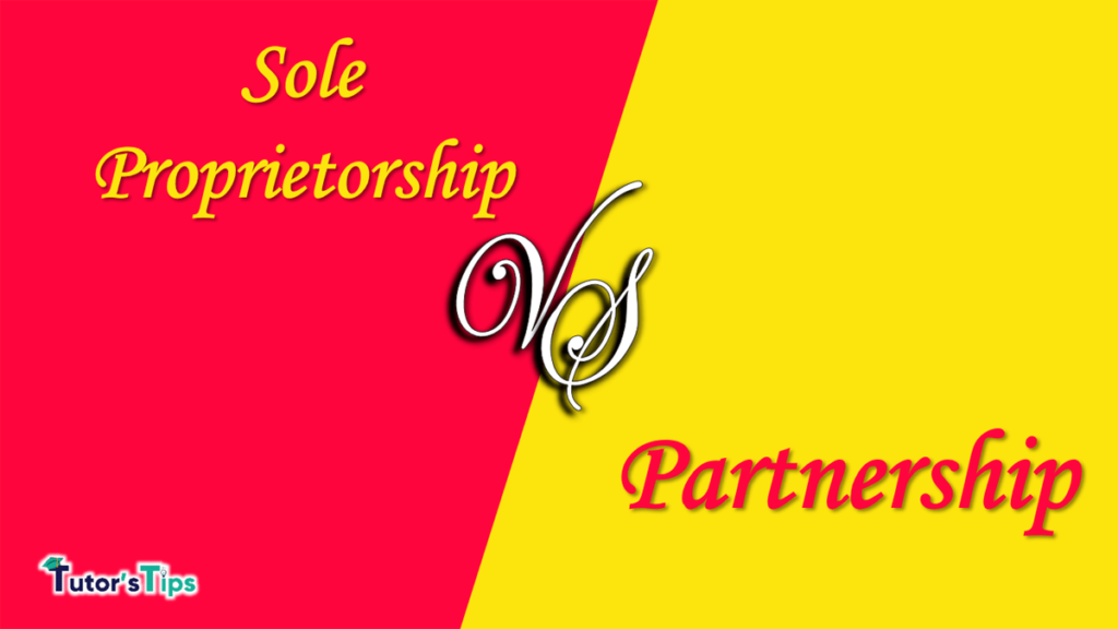 Difference between a sole proprietorship and a partnership