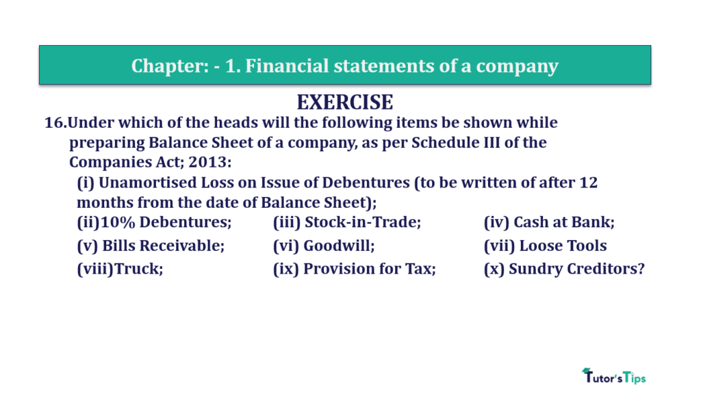 Question 16 Chapter 1 of +2-B