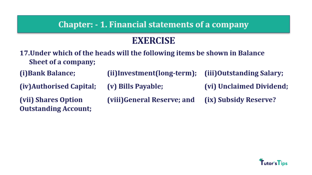 Question 17 Chapter 1 of +2-B