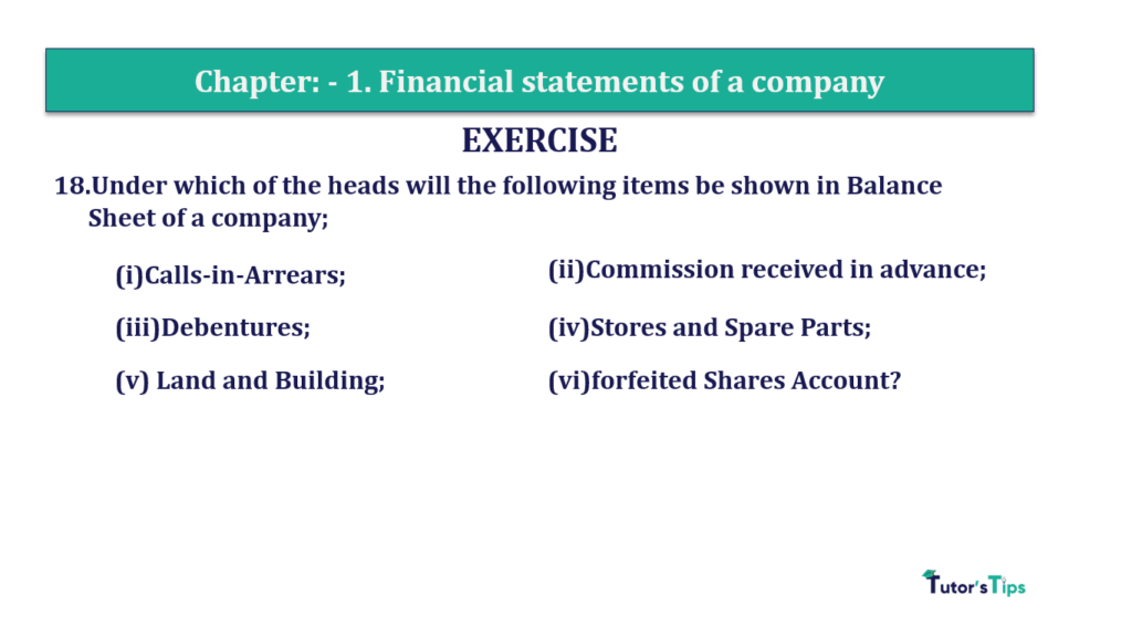 Question 18 Chapter 1 of +2-B