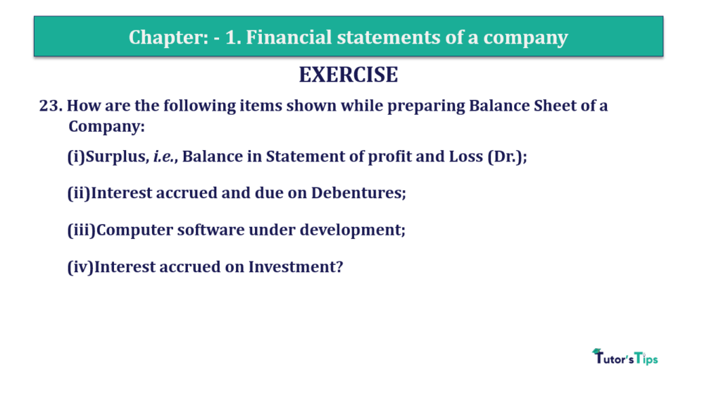 Question 23 Chapter 1 of +2-B