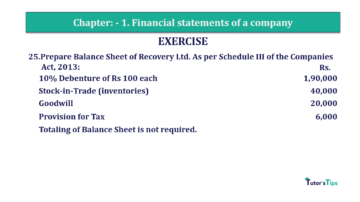 Question No. 25 Chapter No.1 T.S. Grewal 2 Book Part B min 360x202 - Chapter No. 1 - Financial Statements of a Company