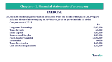 Question No. 27 Chapter No.1 T.S. Grewal 2 Book Part B min 360x202 - Chapter No. 1 - Financial Statements of a Company