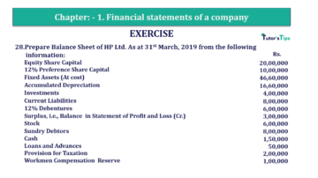Question No. 28 Chapter No.1 T.S. Grewal 2 Book Part B min 360x202 - Chapter No. 1 - Financial Statements of a Company