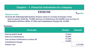 Question No. 45 Chapter No.1 T.S. Grewal 2 Book Part B min 360x202 - Chapter No. 1 - Financial Statements of a Company