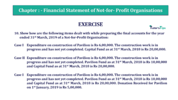 Question No.10 Chapter No.1 T.S. Grewal 2 Book Part A 2019 Solution min min 360x202 - Chapter No. 1 - Financial Statement of Not-For-Profit Organisations