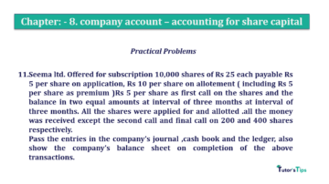 Question No.11 Chapter No.8 T.S. Grewal 2 Book 2019 Solution min min 360x202 - Chapter No. 8 - Company Accounts - Accounting for Share Capital