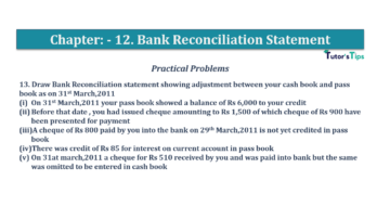 Question No.13 Chapter No.12 T.S. Grewal 1 Book 2019 Solution min min 360x202 - Bank Reconciliation Statement – T.S. Grewal 11 Class – Book Solution