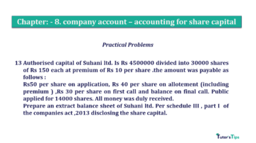 Question No.13 Chapter No.8 T.S. Grewal 2 Book 2019 Solution min min 1 360x202 - Chapter No. 8 - Company Accounts - Accounting for Share Capital