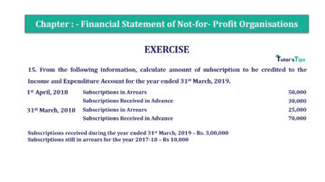 Question No.15 Chapter No.1 T.S. Grewal 2 Book Part A 2019 Solution min min 360x202 - Chapter No. 1 - Financial Statement of Not-For-Profit Organisations