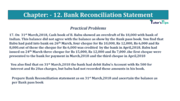 Question No.17 Chapter No.12 T.S. Grewal 1 Book 2019 Solution min min 360x202 - Bank Reconciliation Statement – T.S. Grewal 11 Class – Book Solution