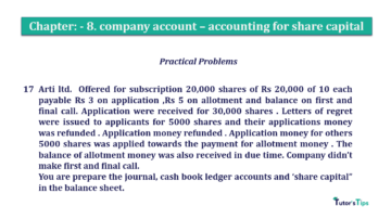 Question No.17 Chapter No.8 T.S. Grewal 2 Book 2019 Solution min min 360x202 - Chapter No. 8 - Company Accounts - Accounting for Share Capital