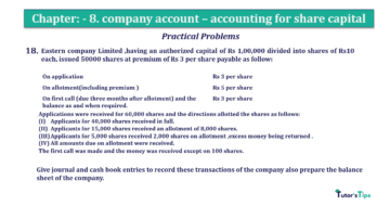 Question No.18 Chapter No.8 T.S. Grewal 2 Book 2019 Solution min min 360x202 - Chapter No. 8 - Company Accounts - Accounting for Share Capital