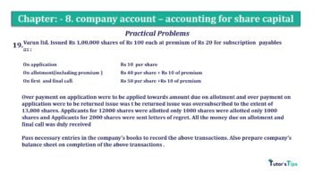 Question No.19 Chapter No.8 T.S. Grewal 2 Book 2019 Solution min min 360x202 - Chapter No. 8 - Company Accounts - Accounting for Share Capital
