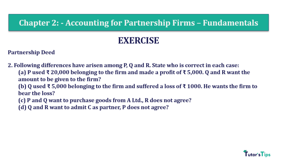 Question 2 Chapter 2 of +2-A