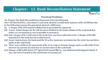 Question No.20 Chapter No.12 T.S. Grewal 1 Book 2019 Solution min min 360x202 - Bank Reconciliation Statement – T.S. Grewal 11 Class – Book Solution