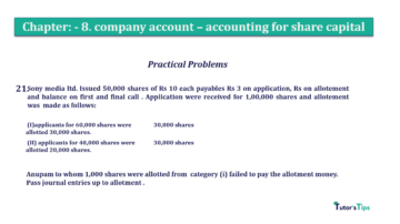 Question No.21 Chapter No.8 T.S. Grewal 2 Book 2019 Solution min min 360x202 - Chapter No. 8 - Company Accounts - Accounting for Share Capital