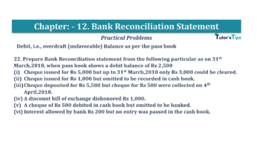 Question No.22 Chapter No.12 T.S. Grewal 1 Book 2019 Solution min min 360x202 - Bank Reconciliation Statement – T.S. Grewal 11 Class – Book Solution