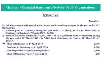 Question No.23 Chapter No.1 T.S. Grewal 2 Book Part A 2019 Solution min min 360x202 - Chapter No. 1 - Financial Statement of Not-For-Profit Organisations