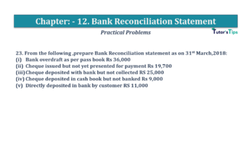 Question No.23 Chapter No.12 T.S. Grewal 1 Book 2019 Solution min min 360x202 - Bank Reconciliation Statement – T.S. Grewal 11 Class – Book Solution