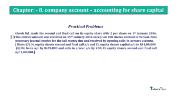 Question No.23 Chapter No.8 T.S. Grewal 2 Book 2019 Solution min min 360x202 - Chapter No. 8 - Company Accounts - Accounting for Share Capital
